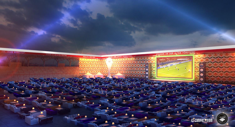 Public Viewing Zur Fussball WM 2014 Ein Wohnzimmer Im Stadion Des 1 FC Union